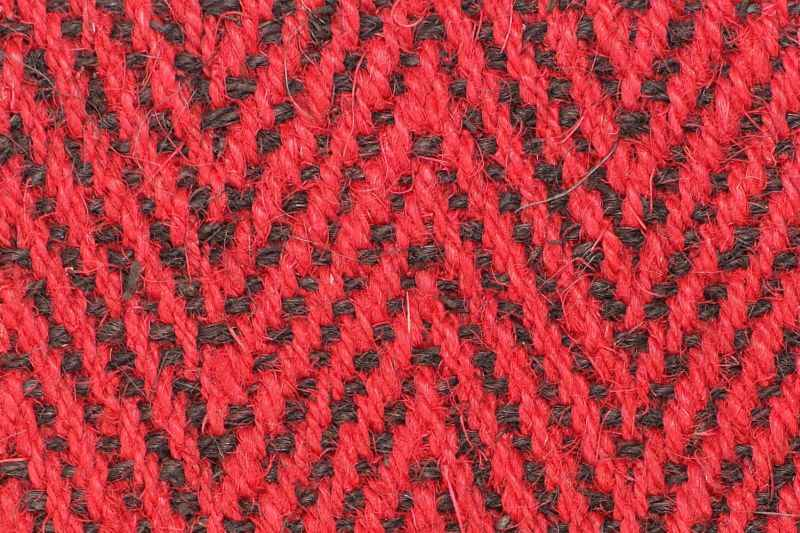Kokos fischgrat rot schwarz