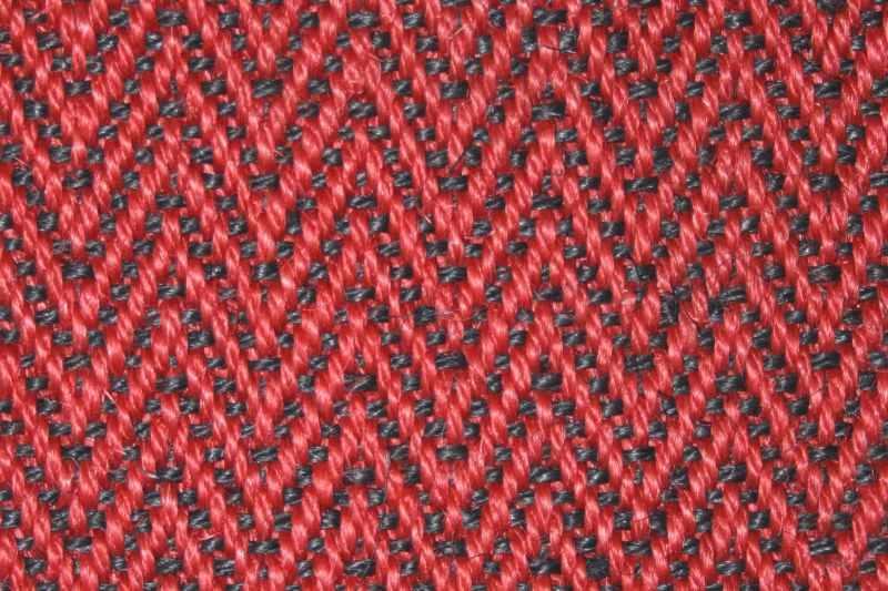 Sisal Fischgrat rot schwarz