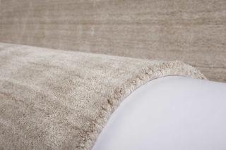 Teppich Wolle Viskose Wellington Handgefertigt Beige 149 95