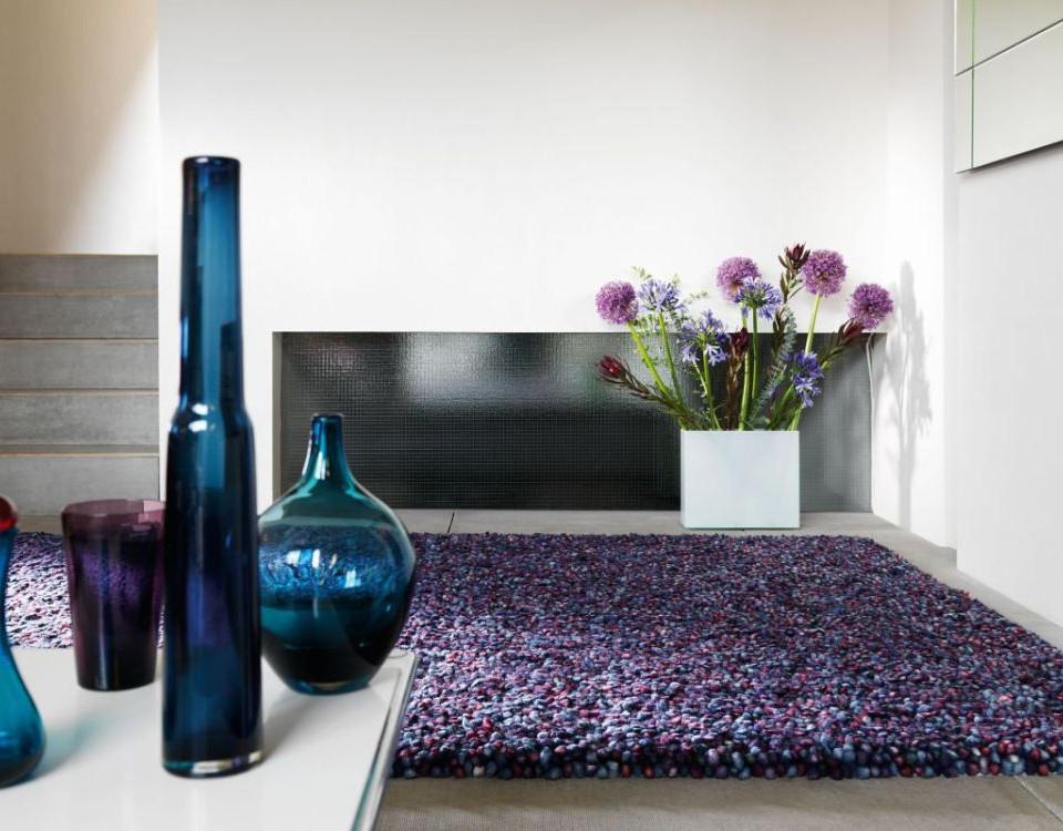Teppich Tashen - 100 % gefilzte Wolle